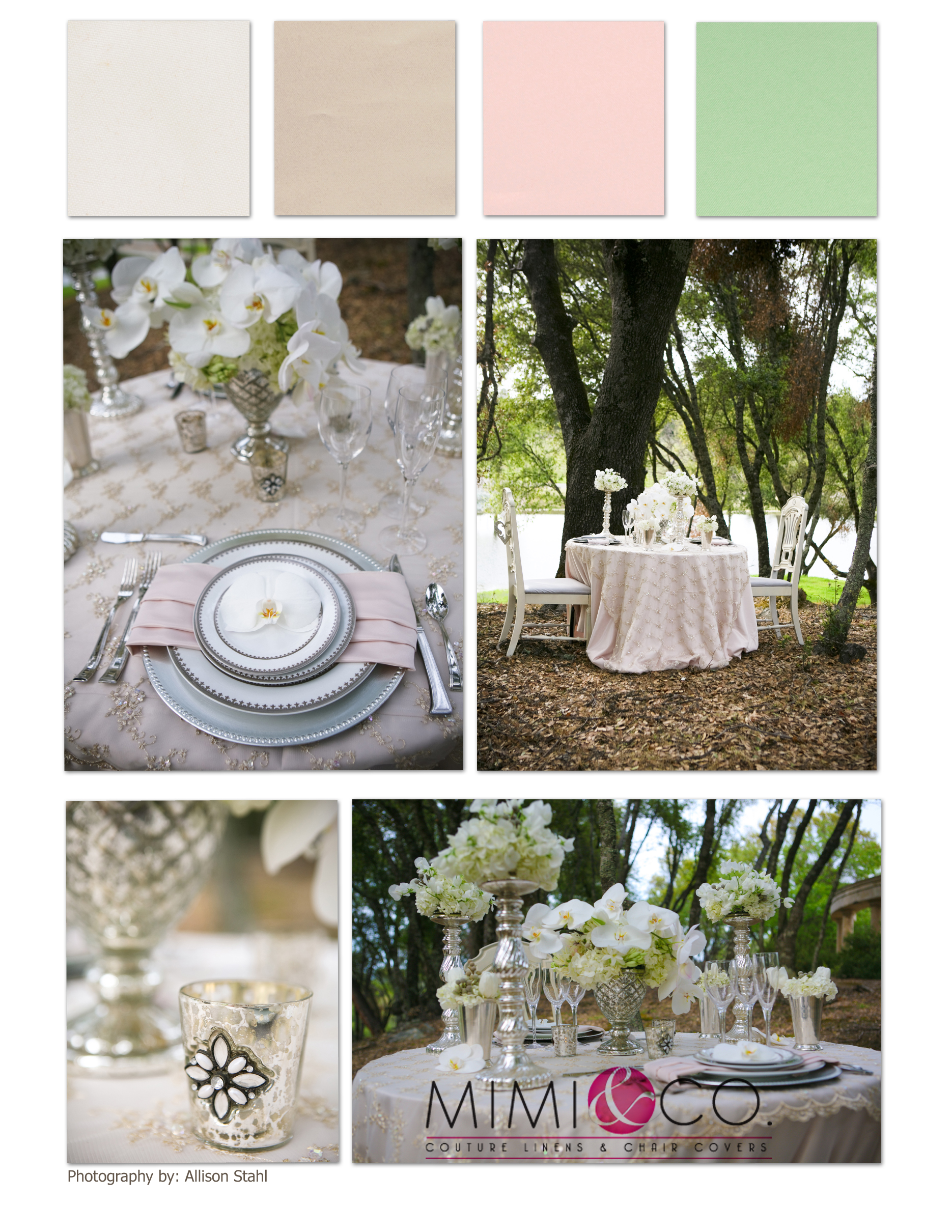 CHAMPAGNE BLUSH MINT COLLAGE
