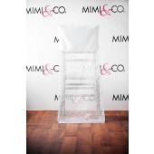 White Infinity Chairback