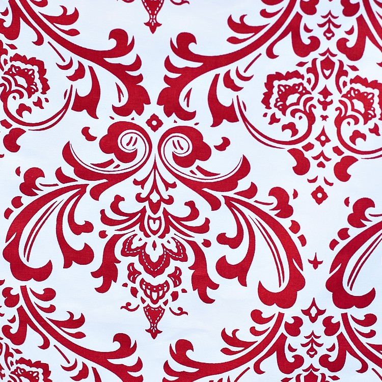 Damask in Red