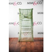 Sage Lined Sequins Chair Back